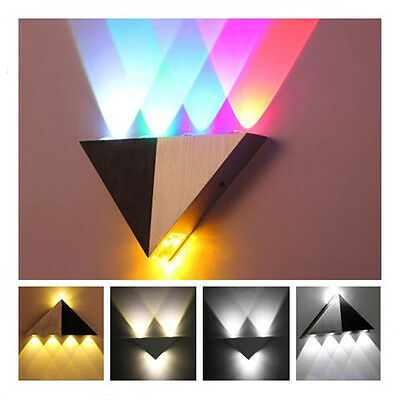 Modern Triangle Wall Light Indoor Up & Down 3W/5W LED Wall Lamp Sconce Lighting