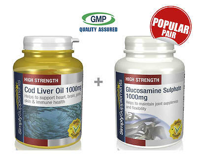 Cod Liver Oil 1000mg 360 Caps and Glucosamine 1000mg 360 Tabs (S143130)
