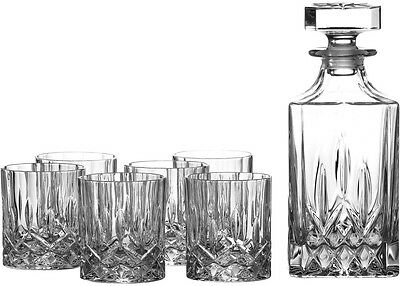 Rcr Opera Crystal Glass - 7 Piece Whisky Set (Decanter + 6 Tumblers) - New/boxed