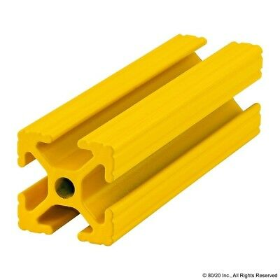 80/20 Inc T Slot Aluminum Extrusion Powder Coated 10 Series 1010-Yellow-72 N