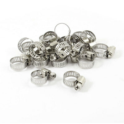 20 Pcs Adjustable 9-16mm Range Metal Worm Drive Hose Clamps Clamp