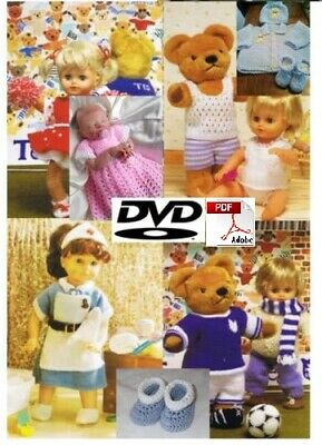2000+ Knitting Crochet Patterns 2 PDF DVD Baby Toddler Childrens Doll Clothing