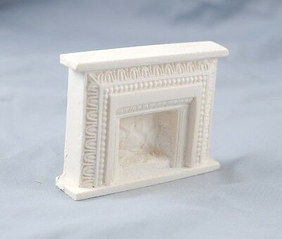 Half Scale Fireplace - Arched UMF10  1/24 scale  polyresin dollhouse Miniatures