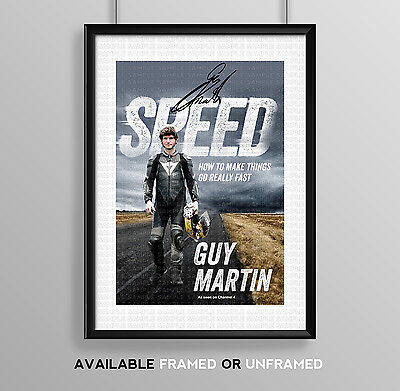 Speed Guy Martin Cast Signed Autograph Print Poster Photo Show Dvd Series Season
