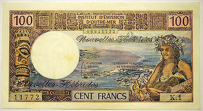 New Hebrides - 100 Francs Banknote - 1975 - gVF - good Very Fine condition