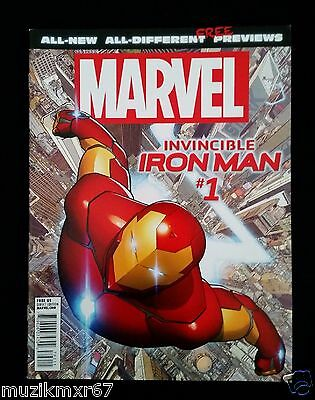 2015 Marvel All-New All Different Comic Cover Previews THE INVINCIBLE IRON MAN 1