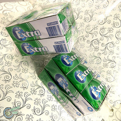 2x 24 x 14 EXTRA Chewing Gum Green Spearmint SugarFree Wrigley's Wrigley Bulk