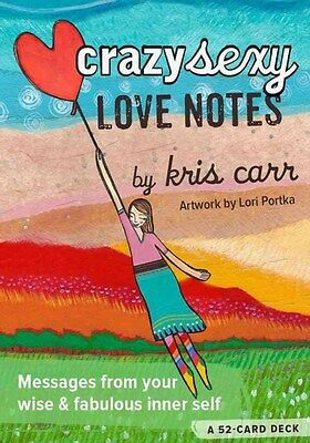Crazy Sexy Love Notes: A 52-Card Deck 9781401948283 by Kris Carr, Cards, NEW