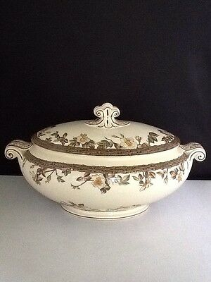 "English W. H. Grindley Oval Turren With Lid ""Blantyre"".                #516"