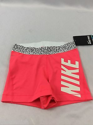 NIKE Pro Women's Athletic Running Shorts Dri-Fit Neon Pink Size XL