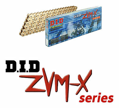 DID ZVM-X Heavy Duty Gold X-Ring Chain - 525 Pitch 110 Link 525ZVMX110
