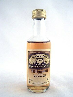 Miniature dated 1963 MILTONDUFF Malt Whisky Isle of Wine