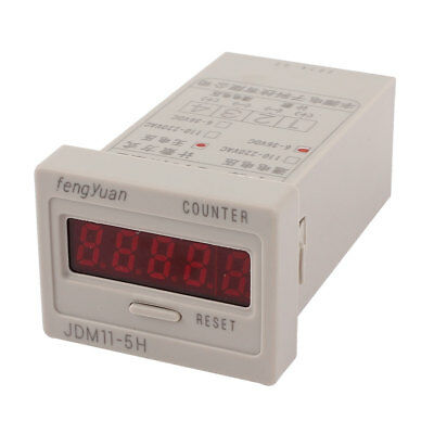 DC 6-36V 0-99999 5 Digit Electromagnetic Calculation Press Reset Counter Tool