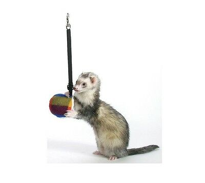 Bungee Toy for ferret - hours of fun - Pink - stuffed toy on an elastic strap