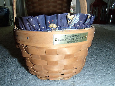 Longaberger Discovery Basket 1942 -1992 Discovery Rare Nautical Liner