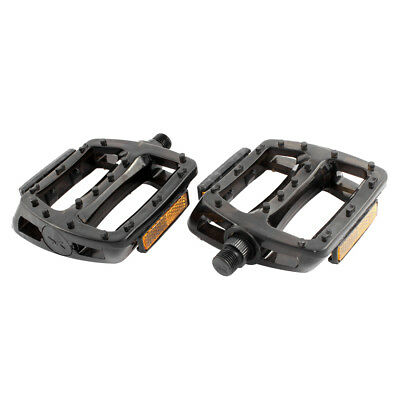 2 Pcs FIXED GEAR Bicycle Plastic Nonslip Platform Flat Cage Pedals Black