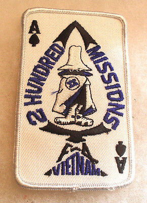 1980'S Made 2 Hundred Missions Phantom To F-4 Vn Blue On Twill Ace Of Spades