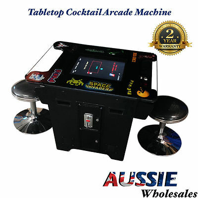 Tabletop Cocktail Arcade Machine Samsung Display With 412 Games Pacman Galaga Et