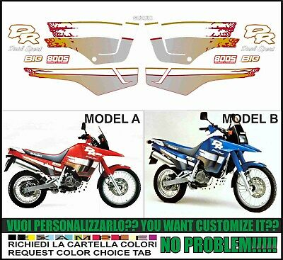 kit adesivi stickers compatibili dr big 800 s dual sport 1991