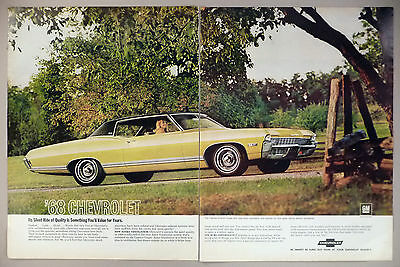 Chevrolet Caprice 2-Page PRINT AD - 1967 ~~ 1968 model