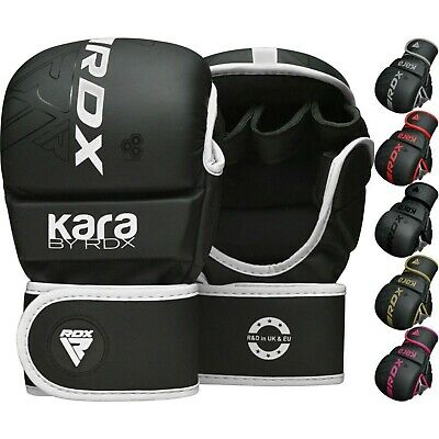 RDX Leather Gel Tech MMA UFC Grappling Gloves Punch Bag Fight Boxing Muay Thai A