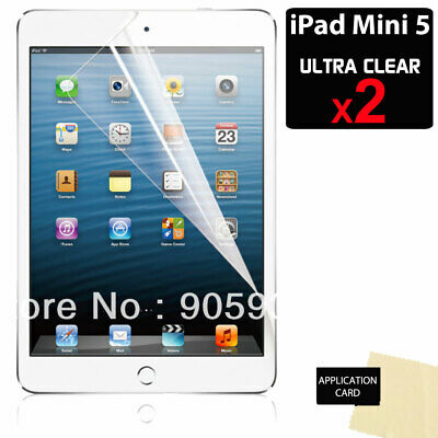 2x Apple iPad Mini 5 2019 ULTRA CLEAR LCD Screen Protector Cover Guards Shields