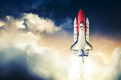 Rocket Launch Sky WALL ART CANVAS FRAMED OR POSTER PRINT