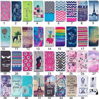 Flip Fashion Stand Cute Card Wallet Leather Case Cover For Samsung Galaxy Phone