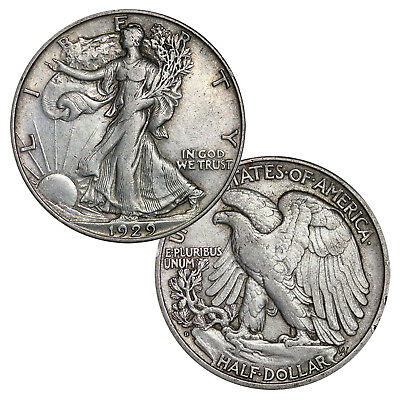 90% SILVER WALKING LIBERTY HALF DOLLAR CIRCULATED ONE BID = ONE COIN USA 50c