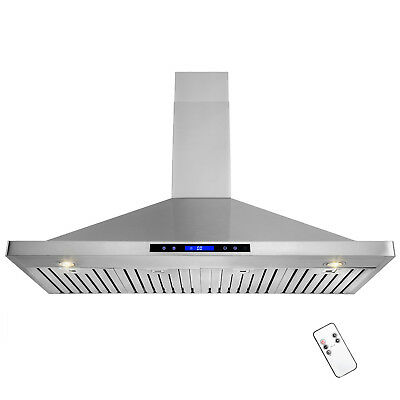 """48"""" Stainless Steel Kitchen Range Hood Wall Mount Touch Screen Remote Control"""