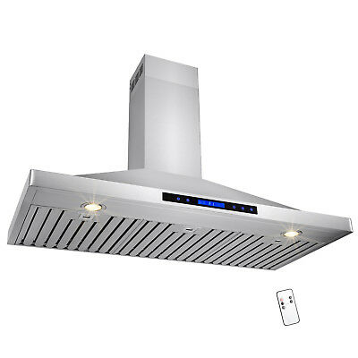 """48"""" Stainless Steel Wall Mount Range Hood Touch Screen Display Kitchen"""