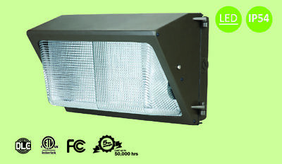 40 watt LED Wall Pack 5000K with CREE LED Tech DLC cETL FCC LM79 LM80 5y warrant