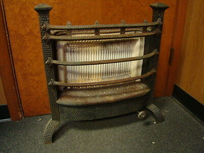 Antique 1800's Cast Iron Ornate Gas Fireplace Insert Humphrey Radiantfire No. 60