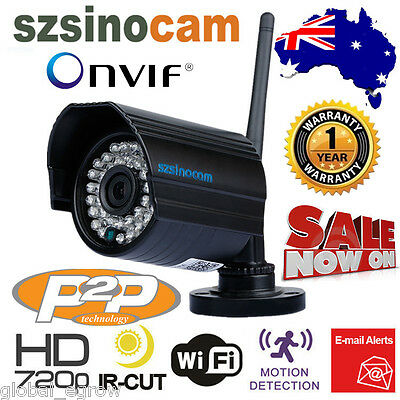 Outdoor Wireless WiFi 720P HD IP Network CCTV Security Camera 36 IR Night Vision