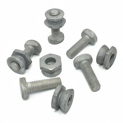 M8 x 25mm TEE BOLTS + SECURITY SHEAR NUT D SECTION PALISADE ANTI VANDAL