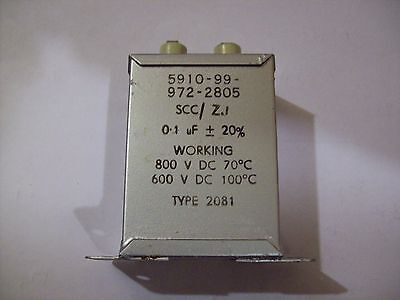 *NOS SCC  Type 2081 +20 -20% 0.1Mfd 800VDC Working capacitor