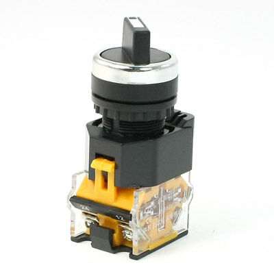 AC 380V 10A 1NO+NC 4-Terminal 2-Position Selector Self-Locking Rotary Switch