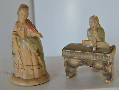 Vintage Abco Chalkware Victorian Couple Figure Lot of 2