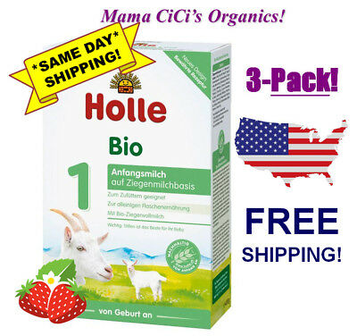 **FREE EXPEDITED SHIPPING** 3 BOXES Stage 1 Holle Organic Goat Milk Baby Formula