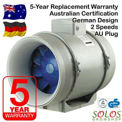 "Inline Exhaust Fan Blauberg Bathroom Ceiling 4/5/6/8/10/12"" 100/125/150/200/250"
