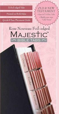 Majestic Rose Nouveau Foil-Edged Bible Tabs - New Hardcover Book