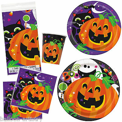 Happy Halloween Friendly Pumpkin Party Plates Napkins Cups Tableware Listing