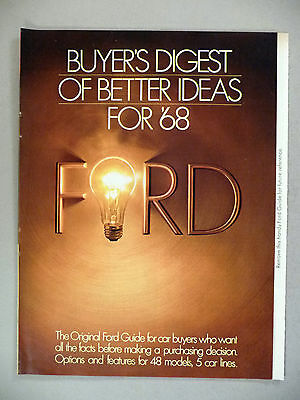 Ford Automobile Buyer's Digest 16-Page PRINT AD - 1968 ~~ Mustang