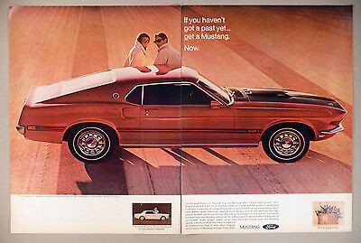 Ford Mustang 2-Page PRINT AD - 1968 ~~ 1969 model