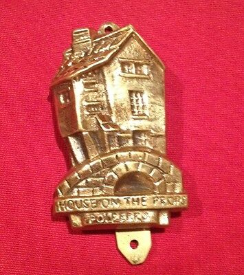 "Vintage ""House On The Props - Polperro"", UK, England - Brass Door Knocker"