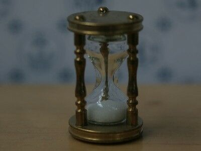 Working Brass Hourglass, Doll House Miniature, Time Keeper 1.12 Scale  Egg Timer
