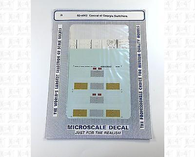 Microscale N Decals Central Of Georgia Switchers 60-4062