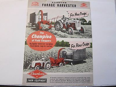 Original Ford Tractor Brochure Dearborn Forage Harvester Field Chopper