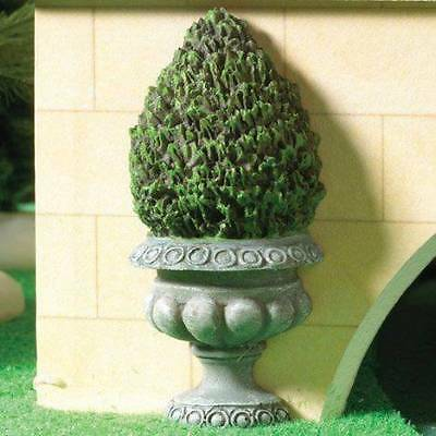 Flat Backed Topiary Bush, Dolls House Miniature Garden Plants 1.12 Scale