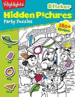 Highlights Sticker Hidden Pictures Party Puzzles -  (Paperback) New